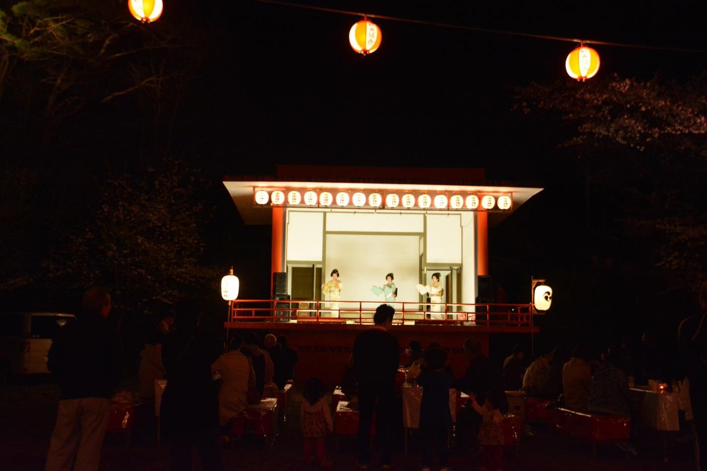 Night Cherry Blossom Festival in Kinugawa-onsen