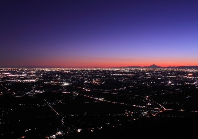 Night View from Mt.Tsukuba