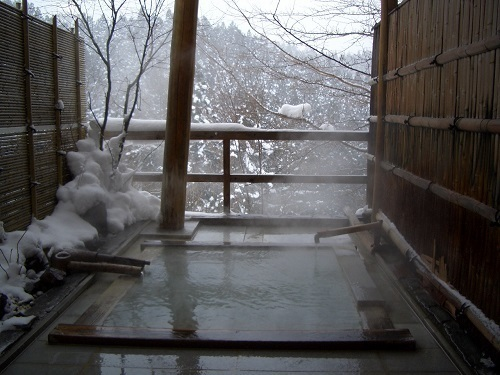 Because it is this season, I put Yukimi hot spring