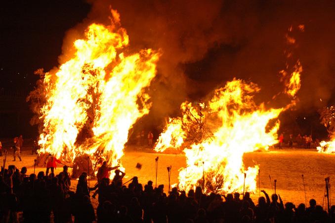 Katsuyama SAGICHO Fire ceremony