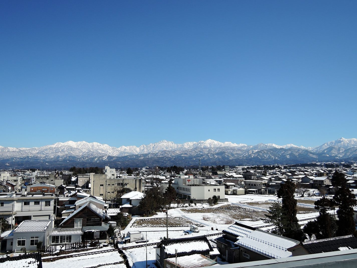 Tateyama mountain range in winter