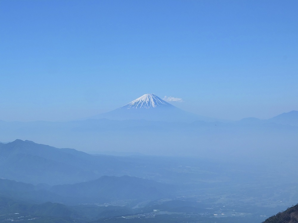 Distant view of Mt.Fuji